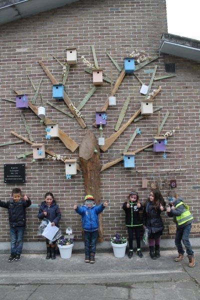 Vogelhuisjes boom