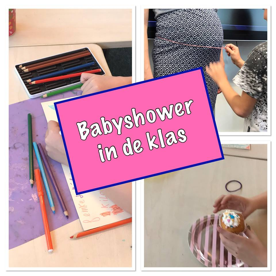 babyshower in de klas